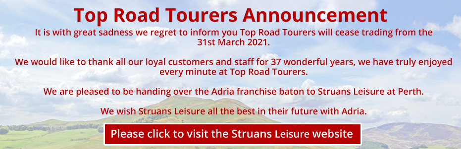 Top Road Tourers Closing 31 March 2021