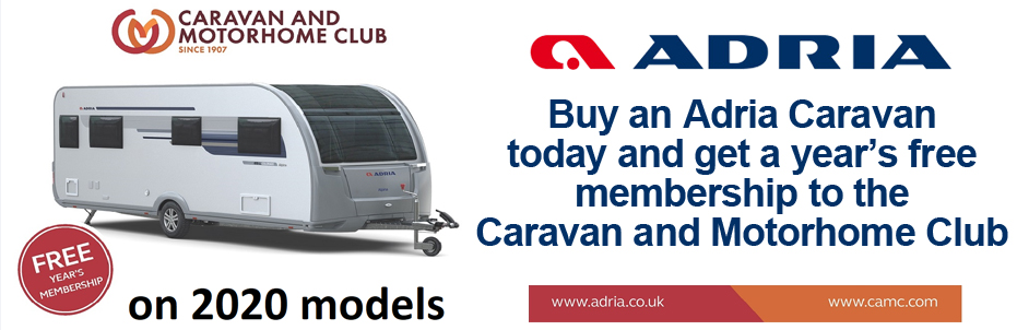 Adria 1 Year FREE Caravan Caravan and Motorhome Club Membership